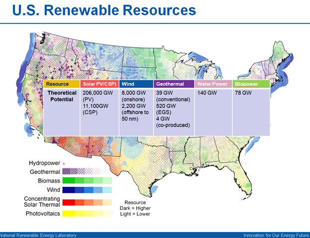 Renewable Energy Conversation With Sierra Clubrsquos Carl - Renewable energy sources by location in us map