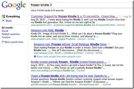 Web Metrics on Frozen Kindle 3 post - Green (low carbon) Data Center