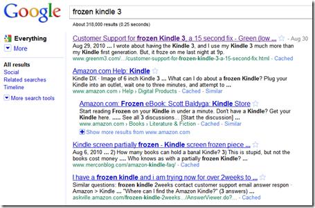 Web Metrics on Frozen Kindle 3 post - Green (low carbon